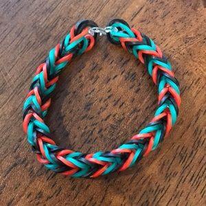 Homemade rubber band bracelet